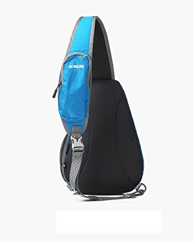 Cycling with Hiking Sling Lightweight Water Men Bag Pack Women and Tofern Shoulder Backpack 5L Repellent Cell Pocket Blue Outdoor Chest Phone xPqSwOv