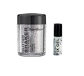 Stargazer Loose Glitter Shaker for Hair& Body with Glitter Fix Gel /Glue-Red
