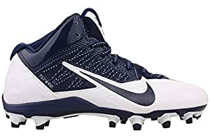 Nike Mens Alpha Pro 3/4 TD Football Cleats White/Navy Blue 579636-140 Size 8