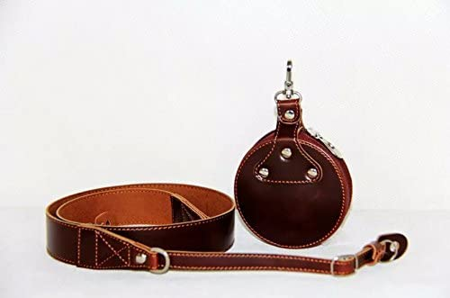 FREE Lens Bag Dark Brown Wento Synthetic Leather Adjustable Camera Neck Shoulder Strap for Leica Canon Nikon Fuji Olympus Lumix Sony