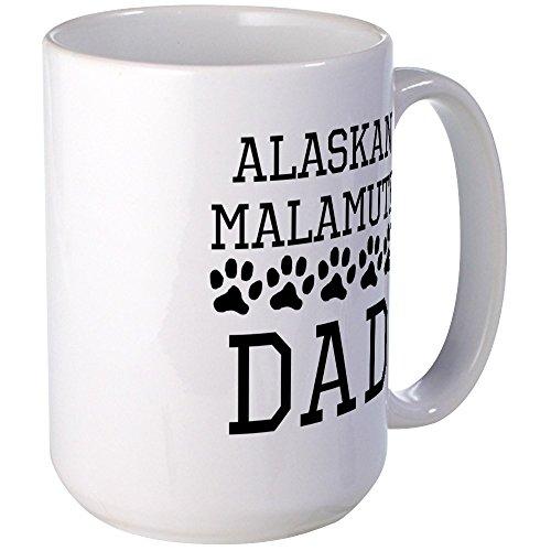 CafePress Alaskan Malamute Dad Mugs Coffee Mug, Large 15 oz. White Coffee Cup