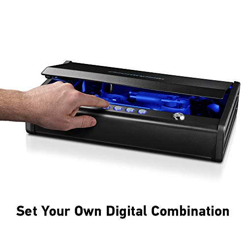 SentrySafe QAP2EL Gun Safe with Digital Keypad and Interior Lights Two Handgun Capacity