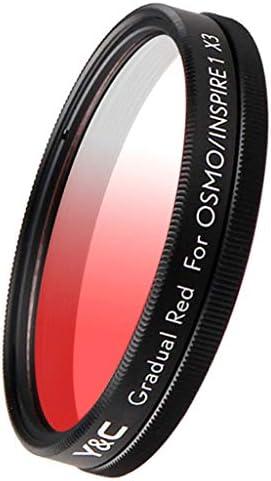 グラデーションカラーフィルター 43mm DJI OSMO/Inspire 1 X3カメラ用 減光フィルター ニュートラル - オレンジ