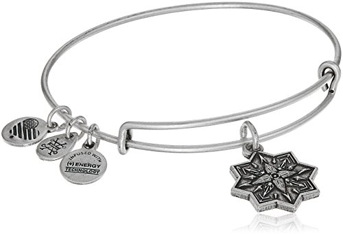 Alex and Ani Healing Love II Bangle Bracelet, Rafaelian Silver, Expandable by Alex and Ani