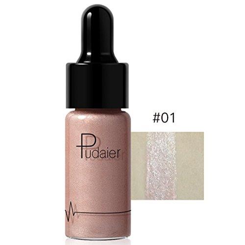Dingji 12 Colors Highlighter Makeup Concealer Shimmer Face Glow Lip Face Liquid (A) (Concealer Cover Maybelline Stick Ivory)