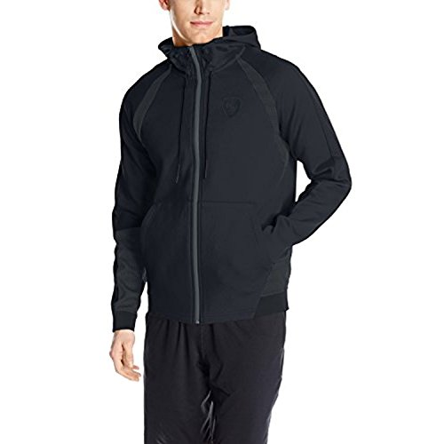 (PUMA Men's Ferrari Hooded Sweat Jacket, Moonless Night, Large)