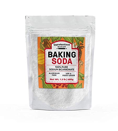 Baking Soda, 1.5 lb by Unpretentious Baker, Highest Quality, Aluminum-Free, Food & USP Grade, Non-GMO, Pesticide Free, Great for Baking & Cooking, Pure Sodium Bicarbonate, Resealable Bag (Non Baking Gmo Soda)