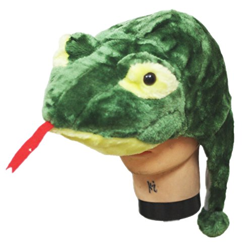 [Petitebella Green Snake Warm Hat Costume Unisex Children Adult for Party] (Warm Costumes)