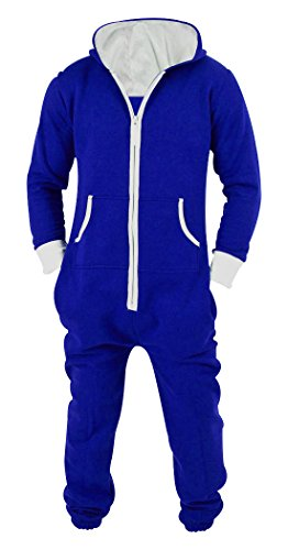 SKYLINEWEARS Men's Unisex Onesie Jumpsuit One Piece Non Footed Pajama Playsuit Small Royal Blue