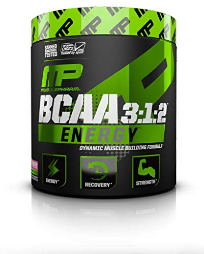 MP Essentials Amino Energy, 6 Grams of BCAA Powder, with Caffeine and Green Tea, BCAA Energy for Pre Workout or Anytime Energy, MusclePharm, Watermelon, 30 Servings