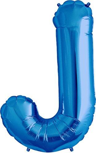 NorthStar Foil Balloon 000283 Letter J - Blue, 34