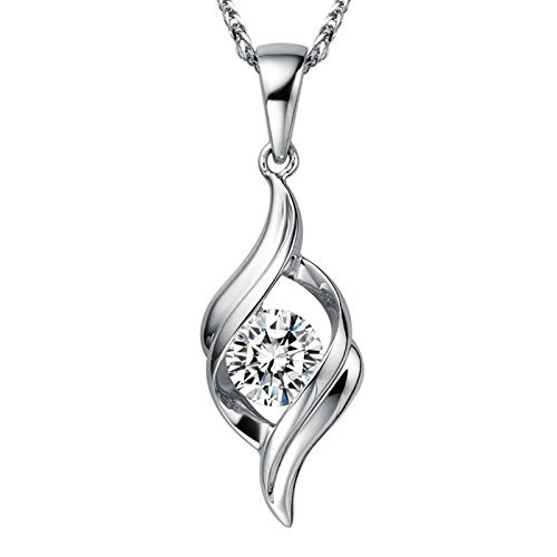 18K White Gold Round Cut Real VS F-G 0.5ct GIA Diamond Classic Pendant Only for Women, 15 Days Customized