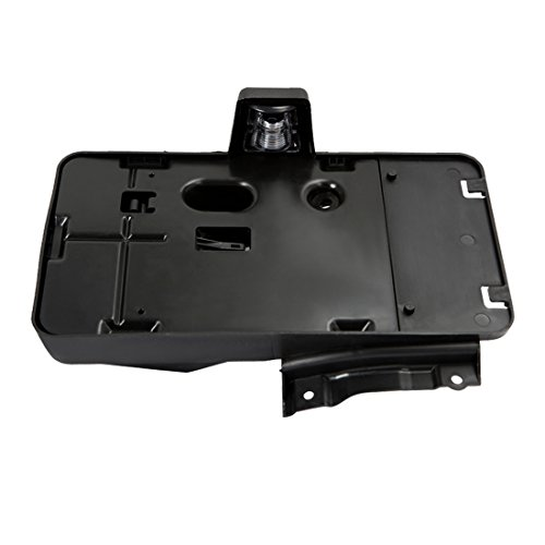 Iparts Black Rear License Plate Holder Frame Bracket Mounting Assembly with LED Lamp and Bottle Opener Cover fits for Jeep Wrangler JK 2007-2017 -