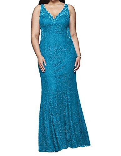 Ballkleider La mia Uebergroesse Festlichkleider Abendkleider Braut Blau Meerjungfrau Etuikleider Elegant Promkleider Spitze rtYrdwq