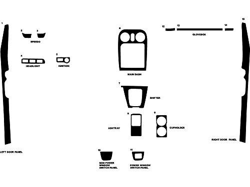 Rdash Dash Kit Decal Trim for Mazda Miata 1994-1997 - Carbon Fiber 4D -