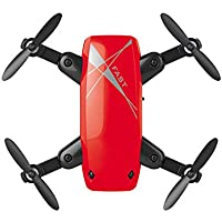 Mini Foldable Portable S9 RC Drone RC Quadcopter Altitude Hold 0.3MP 6-Axis Remote Control Drone With HD Camera Drone (red)