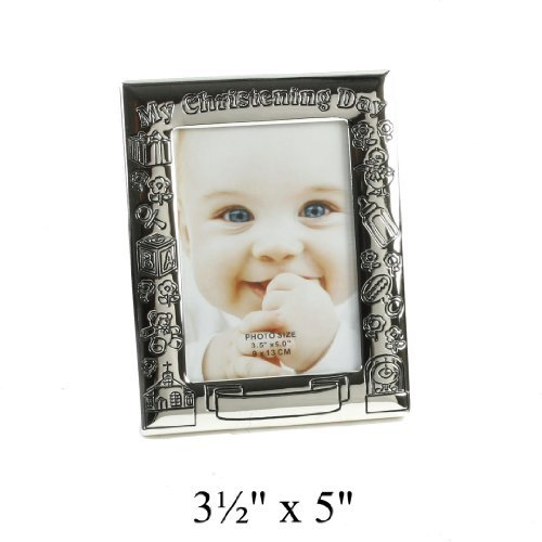 My Christening Day Photo Frame - Antique S/plated 4x6 by Widdop Bingham   B01MYSHDWX