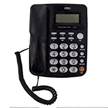 Telephone, Caller ID Office Home landline, Wired landline, Business Office Hotel Front Desk Telephone, Cable Extension Telephone,Black
