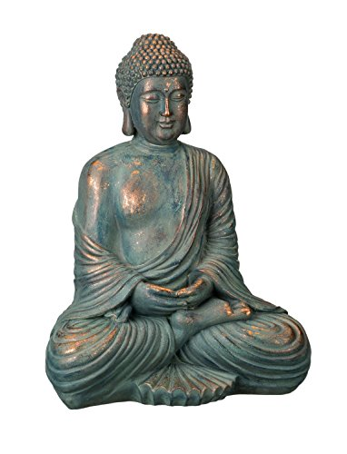 "Regal Art & Gift Patina Buddha Statue, 16"", Copper Patina"