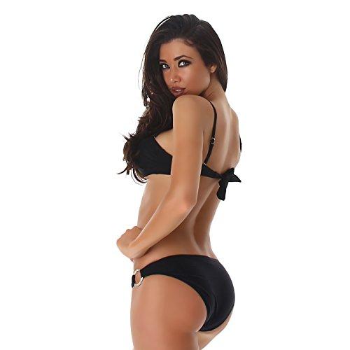 Twist Costume Pf Top fashion Due Carrier Pezzi Fascia Ottiche Slittamento Nero A Bikini Costumi Bagno Da Avvolgimento 8v8rWq