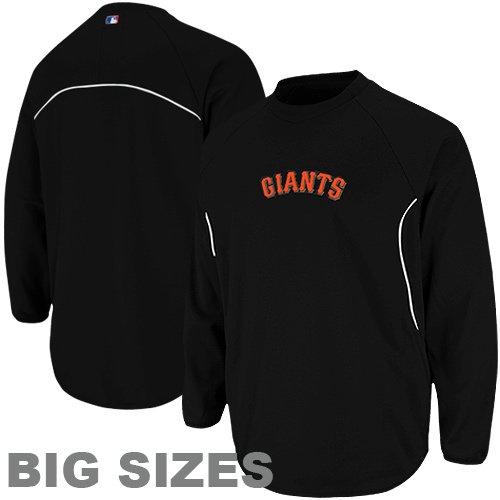 San Francisco Giants Satin Jacket (MLB Majestic San Francisco Giants Big Sizes Therma Base Tech Fleece Sweatshirt - Black (XXXX-Large))