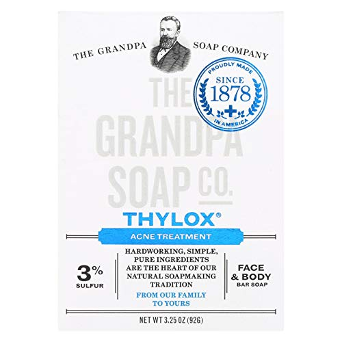 Grandpas Thylox Acne Treatment Bar Soap with Sulfur - 3.25 oz - Vegetable Based - Since 1878 -