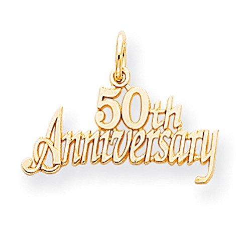 Gold 50th Anniversary Charm - 5