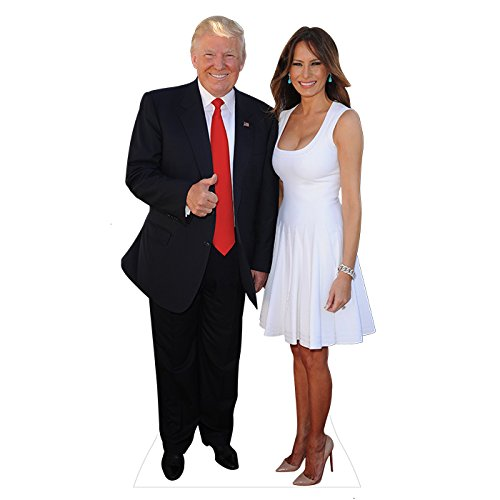 Wet Paint Printing + Design H25104 Melania and Donald Cardboard Cutout Standup