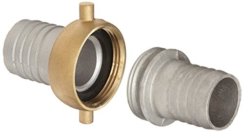 Dixon CAB200 Aluminum Hose Fitting, Complete King Short Suction Coupling Set with Brass Nut, 2