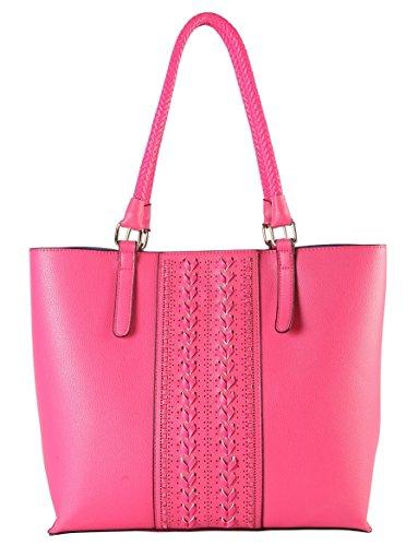 diophy-stitichings-interior-divided-compartments-snap-closure-satchel-handbag-li-3261-fuchsia
