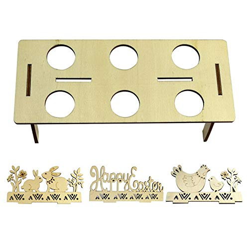 Bigmai Easter Egg Tray Holder, Cute Easter Egg Rack Tray Holder Slot Party Decorative Household Supplies Put Egg Storage Holders (Eggs not Including) by Bigmai (Image #4)