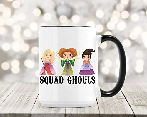(Hocus Pocus Mug - Fall Coffee Cup - Squad Ghouls Goals - Halloween - Witch Bruja Gift - Sanderson)