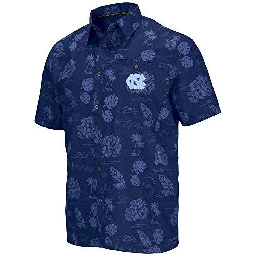 Colosseum Mens UNC North Carolina Tar Heels Honolulu Camp Shirt - XL ()