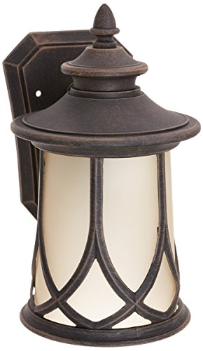 1 Aged Copper Light (Progress Lighting P5987-122 Resort Collection 1-Light Wall Lantern, Aged Copper)