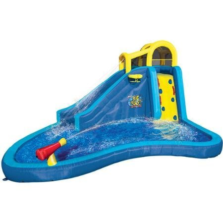 Big Blast Water Park | Side-Climbing Wall and Cushiony Slide | Built-in (Lagoon Water Park)