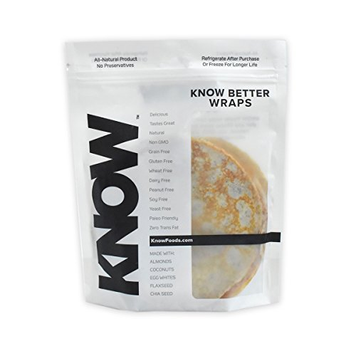 Know Foods Gluten Free Wraps  Low Carb   8 Count