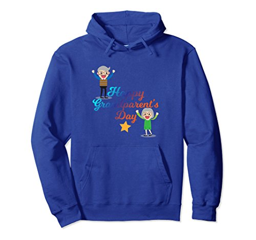 Unisex Funny Happy Grand Parents Day Gift for Grandpa Grandma 2XL Royal Blue