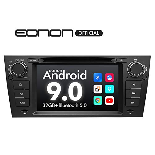 Car Stereo Eonon 7 Inch Single Din Car Stereo, Android 9.0 Car Radio, 32GB ROM GPS Navigation for Car Support Apple Carplay Android Auto/Bluetooth 5.0/WiFi/Fast Boot/DVR/Backup Camera/OBDII-GA9365 (Bmw Professional Radio)