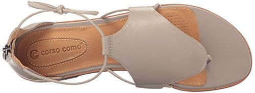 Grey Nappa Flat Women's Sunset Sandal Silk Corso Como FzvqX