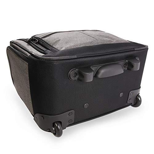 418P8NXUG3L - ORIGINAL PENGUIN Men's Ethan Wheeled Under The Seat Carry On Bag, Grey Crosshatch