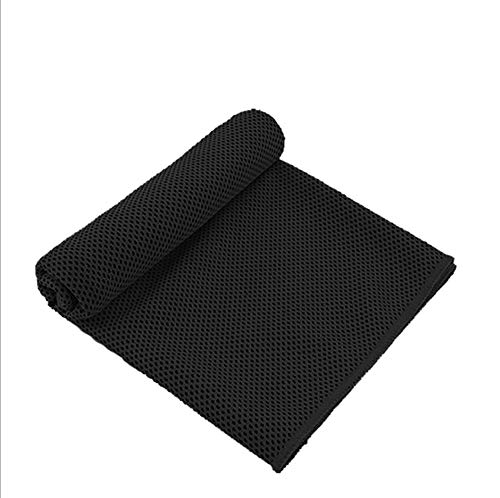 (CICN Cooling Towel Quick-Drying Towel Two-Tone Cold Towel (1, Black))