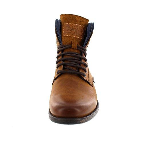 Scarpe di cuoio da uomo Levis, Stivaletti in Emerson Collar, Stivali, Jean Insert: Colour: Brown | Size: 7.5 UK