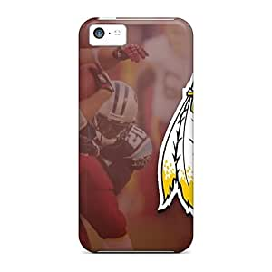 Scratch Protection Hard Cell-phone Cases For Iphone 5c (AqE4876SVRj) Customized Realistic Washington Redskins Pictures