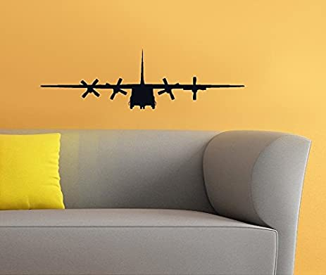 Amazon.com: C 130 Military Army Airplane Wall Art Removable Home ...