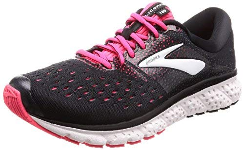 53dd3136e0 Brooks Women's Glycerin 16 Black/Pink/Grey 6 AA US