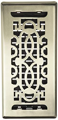 (Decor Grates PEH410-NKL Persian Plated Floor Register, 4-Inch by 10-Inch, Nickel)