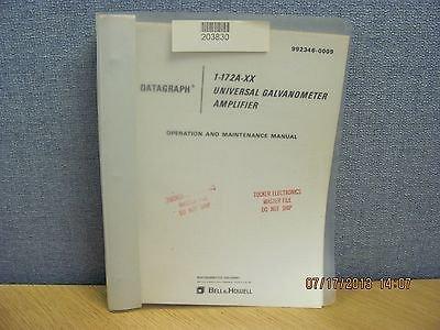 Bell&Howell Model 1-172A-Xx: Universal Galvanometer Amplifier - Op&Maint Manual