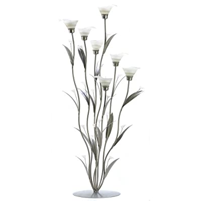 Silver Calla Lily Candleholder - 1 Unit