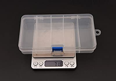 DZT1968 5 Compartments Plastic Storage Container Case Fishing Bait Fish Lure Tackle Box