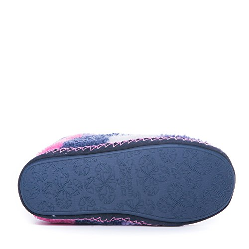 Camera da letto Athletics - MacGraw - a scacchi in pile pantofole stivali - Navy/rosa